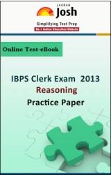 IBPS Clerk Exam 2013:Reasoning: Practice Paper Online Test-eBook