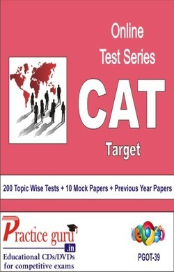 Practice Guru CAT Target , 200 Topic Wise Tests 10 Mock Papers English Online Test