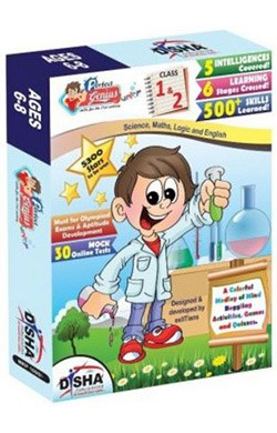 Perfect Genius Junior for Class 1 & 2 (Olympiads, Science, Maths, EVS, Logic and English) with 30 Online Practice Tests