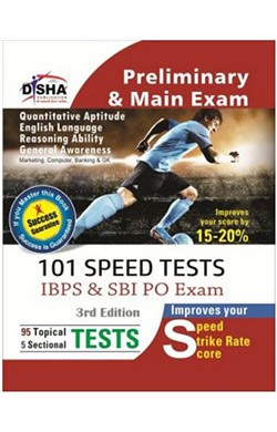 101 Speed Tests for IBPS & SBI Bank PO Exam 3rd Edition