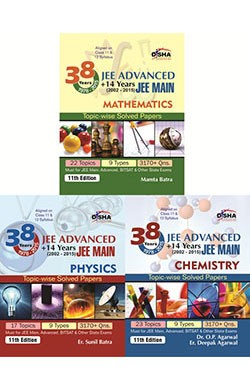 38 Years IIT-JEE Advanced + 14 yrs JEE Main Topic-wise Solved Paper (PCM) 11th Edition