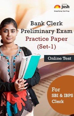 Bank Clerk Preliminary Exam: Practice Paper (Set-1) Online Test