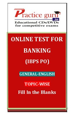 Fill In the Blanks for Banking