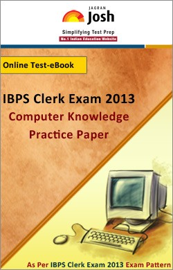 IBPS Clerk Exam 2013:Computer Knowledge: Practice Paper Online Test-eBook