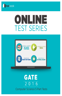 GATE (CS) 5 Part Tests By TestBook - Online Test