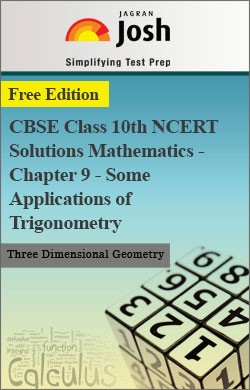 CBSE Class 10th NCERT Solutions Mathematics - Chapter 9 - Some Applications of Trigonometry