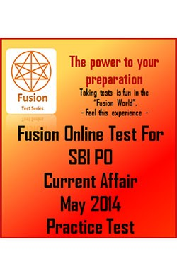 SBI PO Current Affair May 2014 Practice Test
