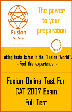 CAT 2007 Exam Full Test