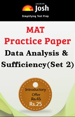 MAT Practice Paper: Data Analysis & Sufficiency (Set 2) - Online Test