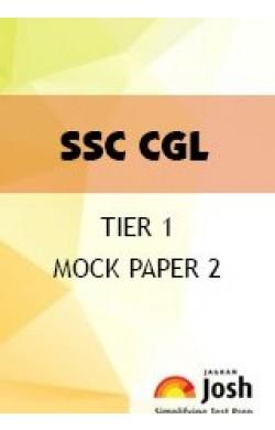 SSC CGL Tier 1 Mock Paper 2