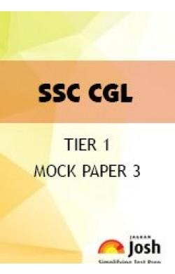 SSC CGL Tier 1 Mock Paper 3
