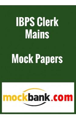 IBPS Clerk Mains 2015 Mock Test Series - Series of 3 by Mockbank in English