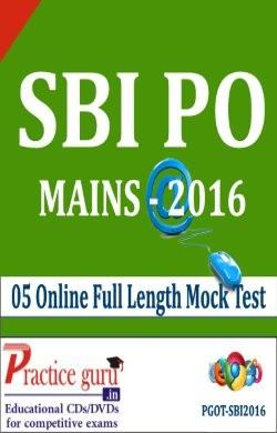 SBI PO Mains 2016 Online Test