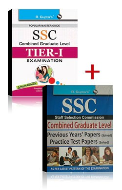 Combos of SSC Combined Graduate Level Posts (Tier-I) Exam Guide + Previous Years' Papers and Practice Test Papers (Solved) by Ramesh Publishing House Ubspd - Book