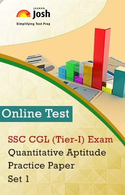 SSC CGL (Tier-I) Exam: Quantitative Aptitude: Practice Paper (Set-1) Online Test