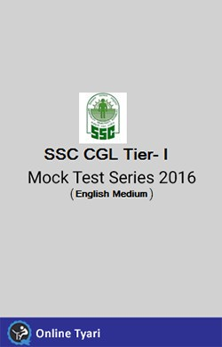 SSC CGL Tier- I Test Series 2016