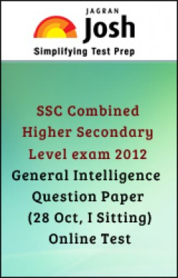 SSC Combined Higher Secondary Level exam 2012 : General Intelligence : Question Paper (28 Oct, I Sitting)