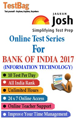 Bank Of India Recruitment Of Specialist Officers (IT) Exam Online Test
