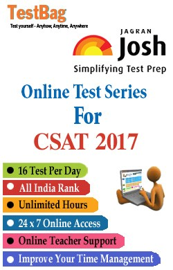 Civil Services Aptitude Test Exam (CSAT 2017) - Online Test