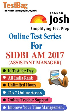 SIDBI Recruitment Of Assistant Manager Examination By Test Bag - Online Test