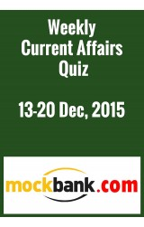 Weekly Current Affairs Quiz 20-27 December by Mockbank in English