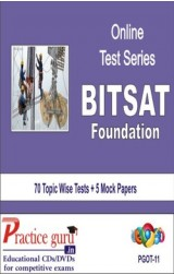 Practice Guru BITSAT Foundation , 70 Topic Wise Tests 5 Mock Papers English Online Test