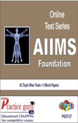 Practice Guru AIIMS Foundation , 62 Topic Wise Tests 5 Mock Papers English Online Test