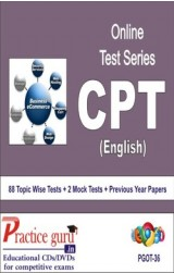 Practice Guru CPT , 88 Topic Wise Tests 2 Mock Tests English Online Test