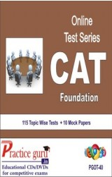 Practice Guru CAT Foundation , 115 Topic Wise Tests 10 Mock Papers English Online Test