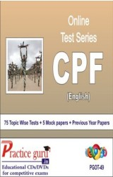 Practice Guru CPF , 75 Topic Wise Tests 5 Mock papers English Online Test
