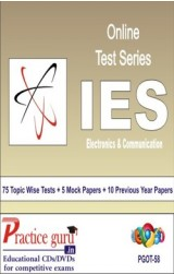 Practice Guru IES - Electronics & Communication , 75 Topic Wise Tests 5 Mock Papers English Online Test