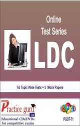 Practice Guru LDC , 65 Topic Wise Tests 5 Mock Papers English Online Test