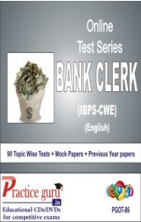 Practice Guru Bank Clerk English - CWE , 90 Topic Wise Tests Mock Papers English Online Test