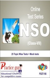 Practice Guru NSO Class 7 , 25 Topic Wise Tests Mock tests English Online Test