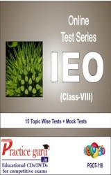 Practice Guru IEO Class 8 , 15 Topic Wise Tests Mock Tests English Online Test