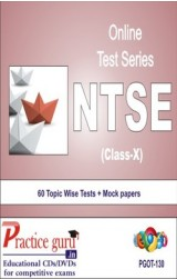 Practice Guru NTSE Class 10 , 60 Topic Wise Tests Mock papers English Online Test