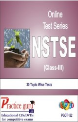Practice Guru NSTSE Class 3 , 30 Topic Wise Tests English Online Test
