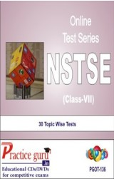 Practice Guru NSTSE Class 7 , 30 Topic Wise Tests English Online Test