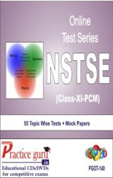 Practice Guru NSTSE Class 11 (PCM) , 55 Topic Wise Tests Mock Papers English Online Test