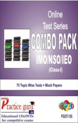 Practice Guru Class 1 - Combo Pack (IMO / NSO / IEO) , 75 Topic Wise Tests Mock Papers English Online Test