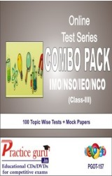 Practice Guru Class 3 - Combo Pack (IMO / NSO / IEO / NCO) , 100 Topic Wise Tests Mock Papers English Online Test