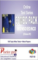 Practice Guru Class 4 - Combo Pack (IMO / NSO / IEO / NCO) , 100 Topic Wise Tests Mock Papers English Online Test