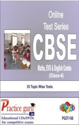 Practice Guru Class 4 - Maths, EVS & English Combo , 35 Topic Wise Tests English Online Test