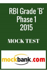 RBI Grade B- Phase 1 Series of 5 in English By Mockbank - Online Test
