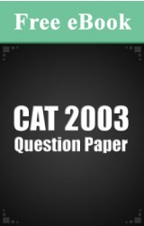 CAT 2003 Question Paper free eBook
