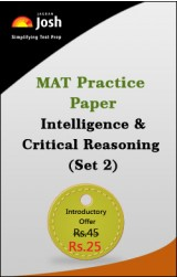 MAT Practice Paper: Intelligence & Critical Reasoning (Set 2) - Online Test