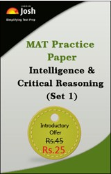MAT Practice Paper: Intelligence & Critical Reasoning (Set 1) - Online Test