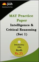 MAT Practice Paper: Intelligence & Critical Reasoning (Set 1) - Online Test