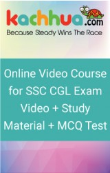 Online video course for SSC CGL Exam. Video+Study Material+MCQ Test