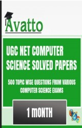 UGC NET Computer Science Solved Papers Online Test 1 by Avatto